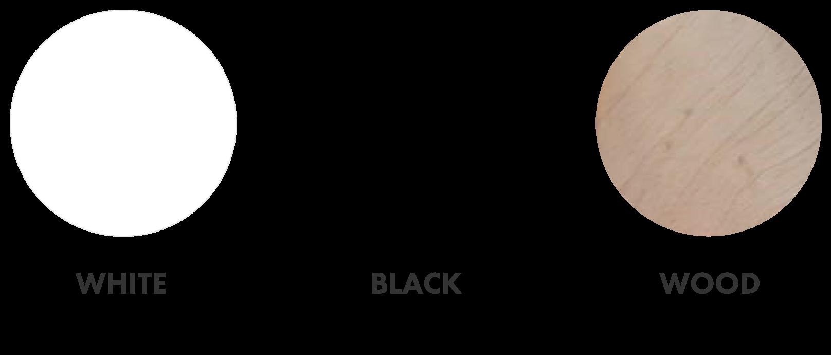 白・黒・ウッドから選べます
